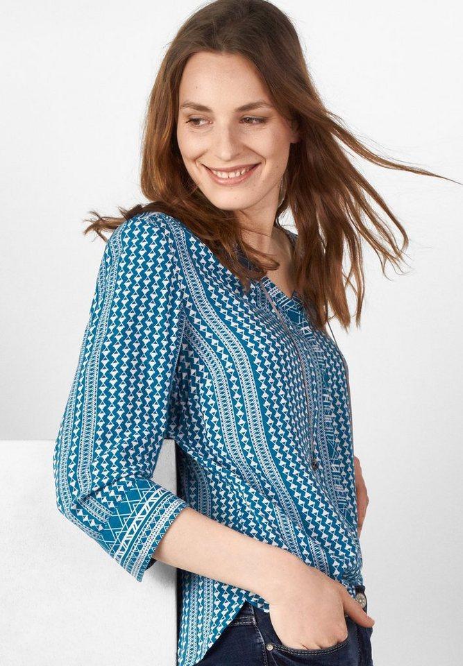 CECIL Leichte Streifenmix-Bluse in celestial blue