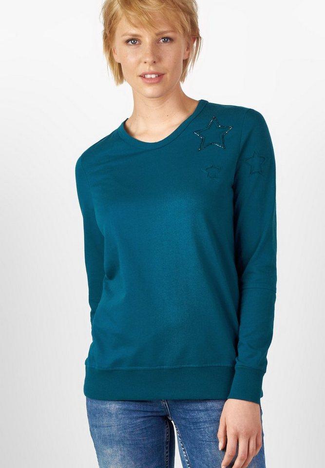 CECIL Leichtes Sternen-Sweatshirt in celestial blue