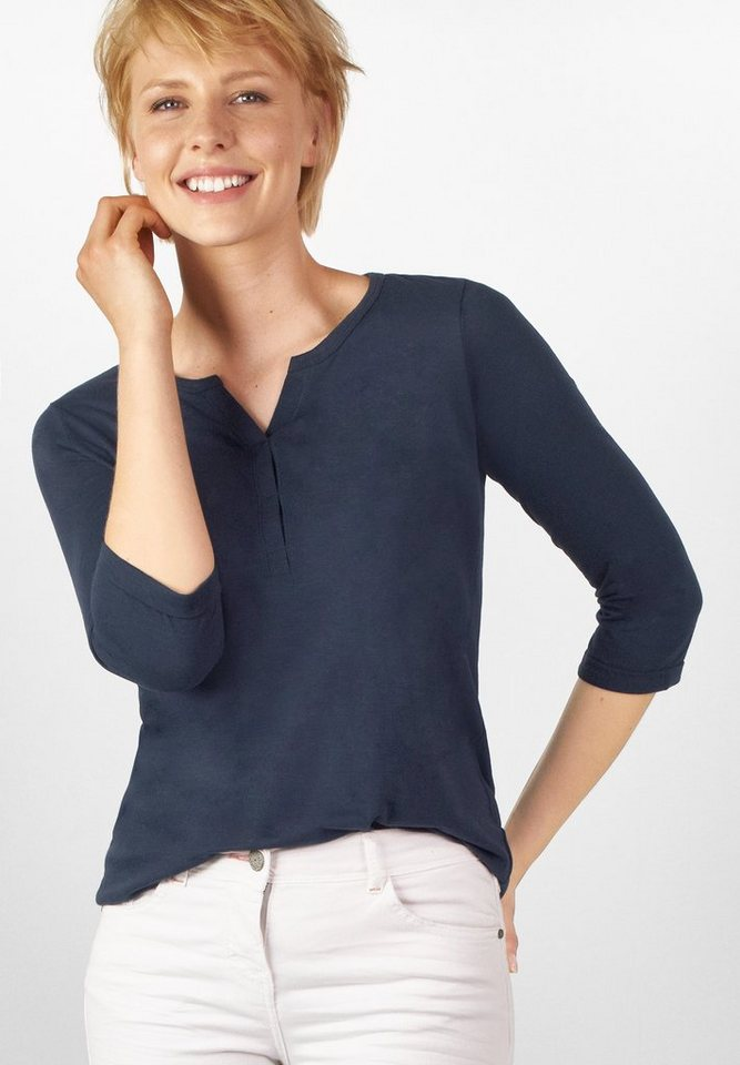 CECIL 3/4-Arm Shirt Amelie in deep blue