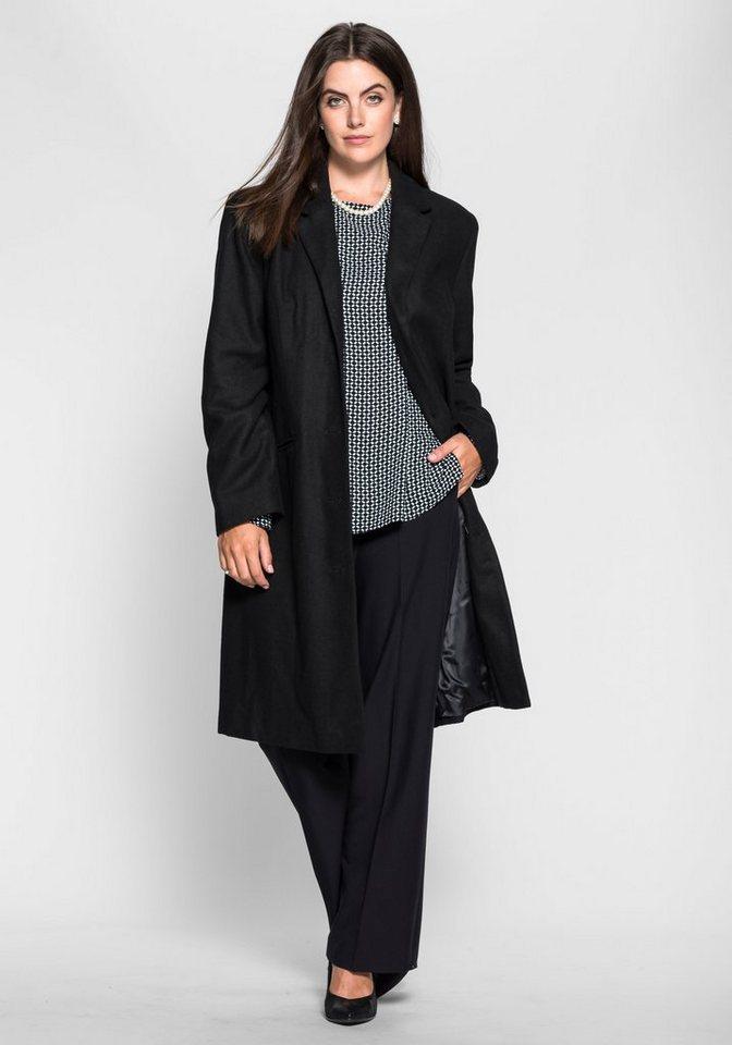 Sheego Class Mantel in schwarz