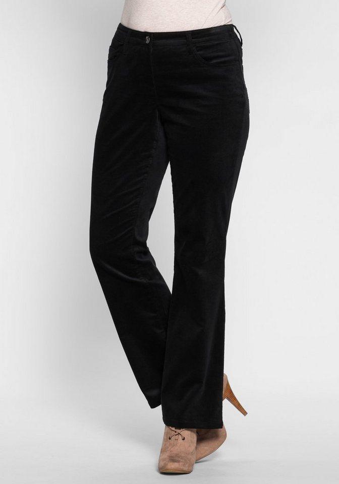 Joe Browns Bootcut-Hose aus Samt in schwarz
