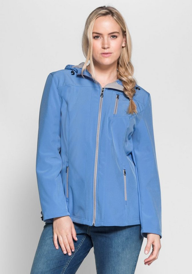 sheego Casual Softshelljacke in bleu