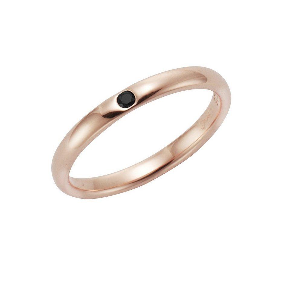 Jamelli Ring »925/- Sterling Silber rotverg. Spinell schwarz« in rot