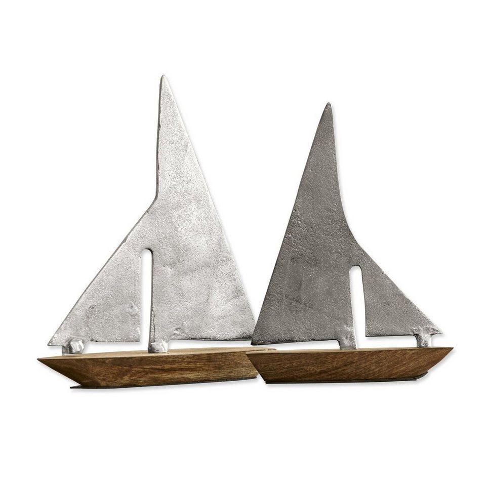 Loberon Dekoschiffe 2er-Set »St. John« in silber