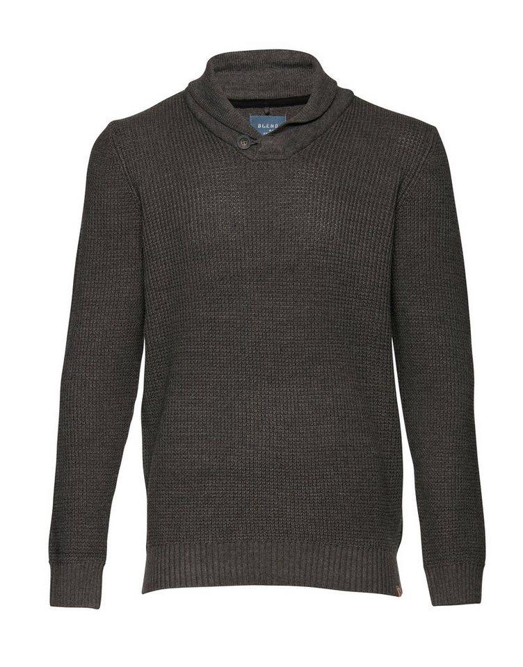 Blend Slim fit, schmale Form, Pullover in Grau