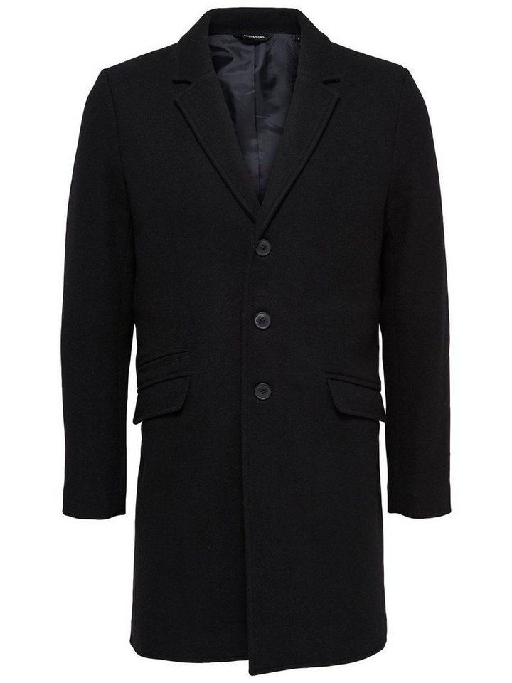 ONLY & SONS Klassischer Trenchcoat in Black