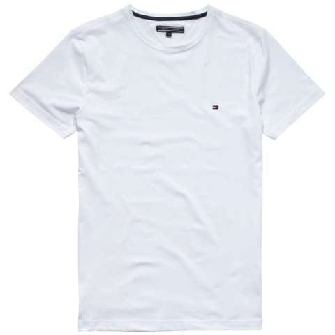 Tommy Hilfiger T-Shirts (kurzarm) »NEW STRETCH C-NK TEE S/S SF« in CLASSIC WHITE