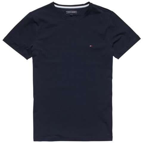 Tommy Hilfiger T-Shirts (kurzarm) »NEW STRETCH C-NK TEE S/S SF« in NAVY BLAZER-PT