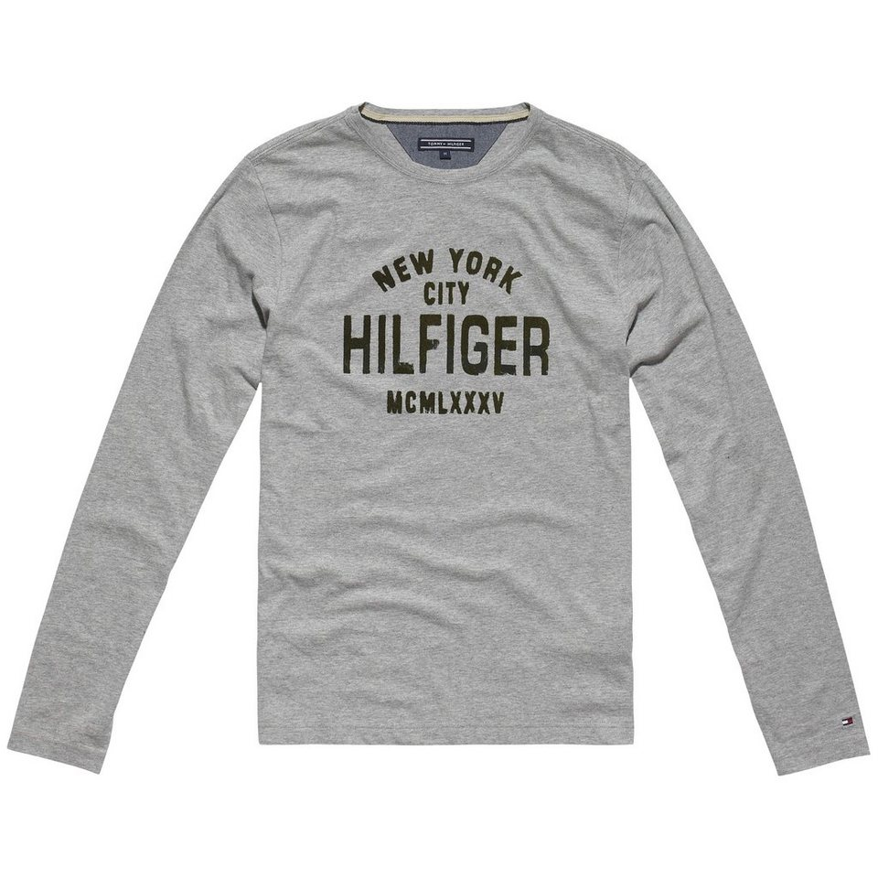 Tommy Hilfiger T-Shirts (langarm) »OWEN TEE L/S RF« in CLOUD HTR