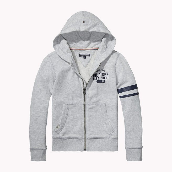 Tommy Hilfiger Heavyweight Zip Throughs »HILFIGER HD ZIPTHRU HWK L/S« in Light Grey Heather