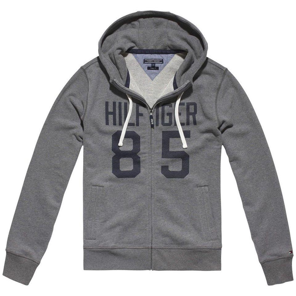 Tommy Hilfiger Sweatshirts »HAMPTON HDD Z-THRU L/S VF« in SILVER FOG HTR