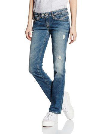 Hilfiger Denim Jeans »Low Rise Straight Vicky DCBSTD« in DARK CYAN BLUE STR DESTR