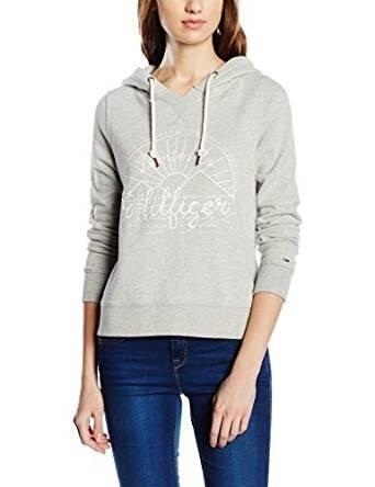 Hilfiger Denim Sweatshirts »Maggy graphic hd hknit l/s« in LIGHT GREY HTR