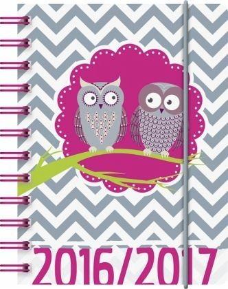 Buch mit Kunststoff-Einband »Schülerkalender A6 PP Eule 2016/2017«