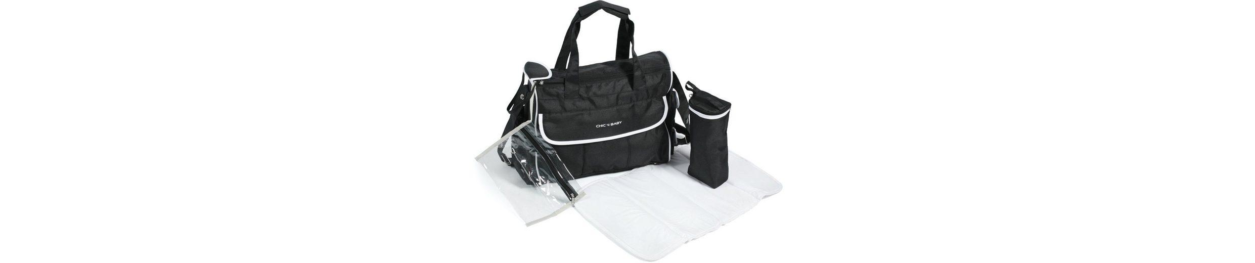 CHIC4BABY Wickeltasche mit Thermoflaschen Bag, »Luxury schwarz/weiß«