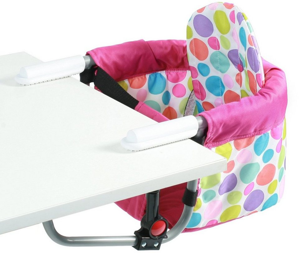 CHIC4BABY Tischsitz mit universellem Befestigungssystem, »Relax pinkybubbles« in pinky bubbles