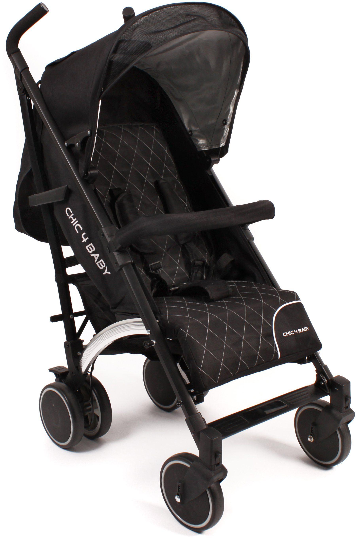 CHIC4BABY Buggy mit schwenkbaren Vorderrädern, »Luca black«