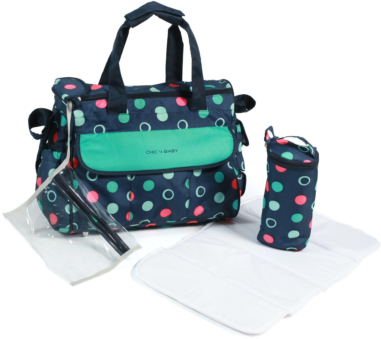 CHIC4BABY Wickeltasche mit Thermoflaschen Bag, »Luxury menta«