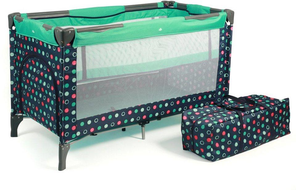 chic4baby reisebett mit transporttasche luxus menta. Black Bedroom Furniture Sets. Home Design Ideas