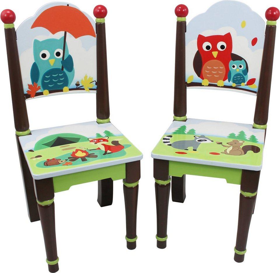 fantasy fields 2er set st hle mit handbemalung woodland online kaufen otto. Black Bedroom Furniture Sets. Home Design Ideas