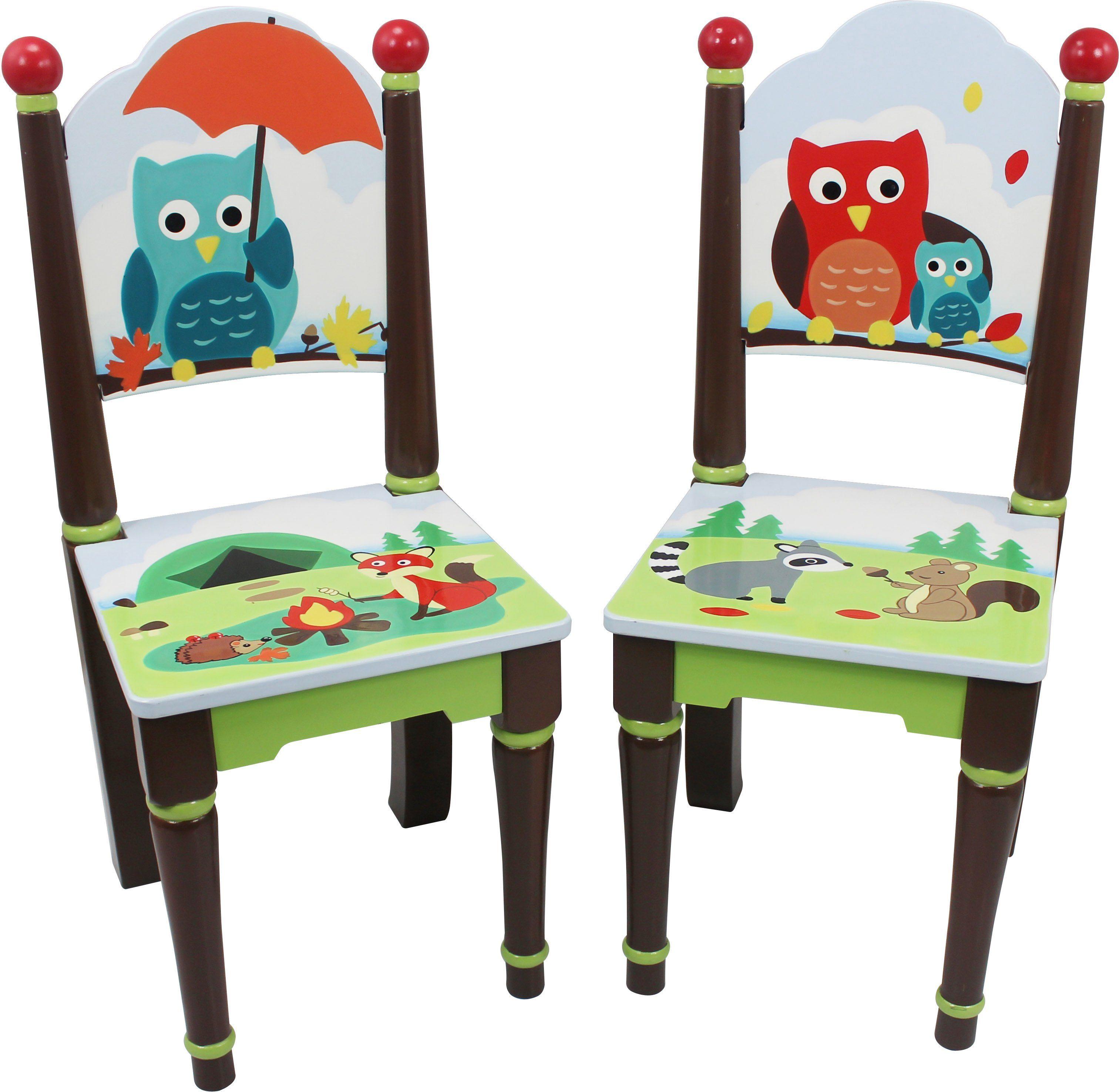 Fantasy Fields™, 2er Set Stühle mit Handbemalung, »Woodland«