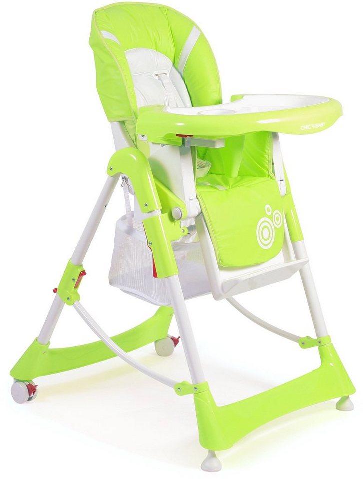 CHIC4BABY Hochstuhl mit verstellbarer Rückenlehne, »Enjoy lemongreen« in lemongreen