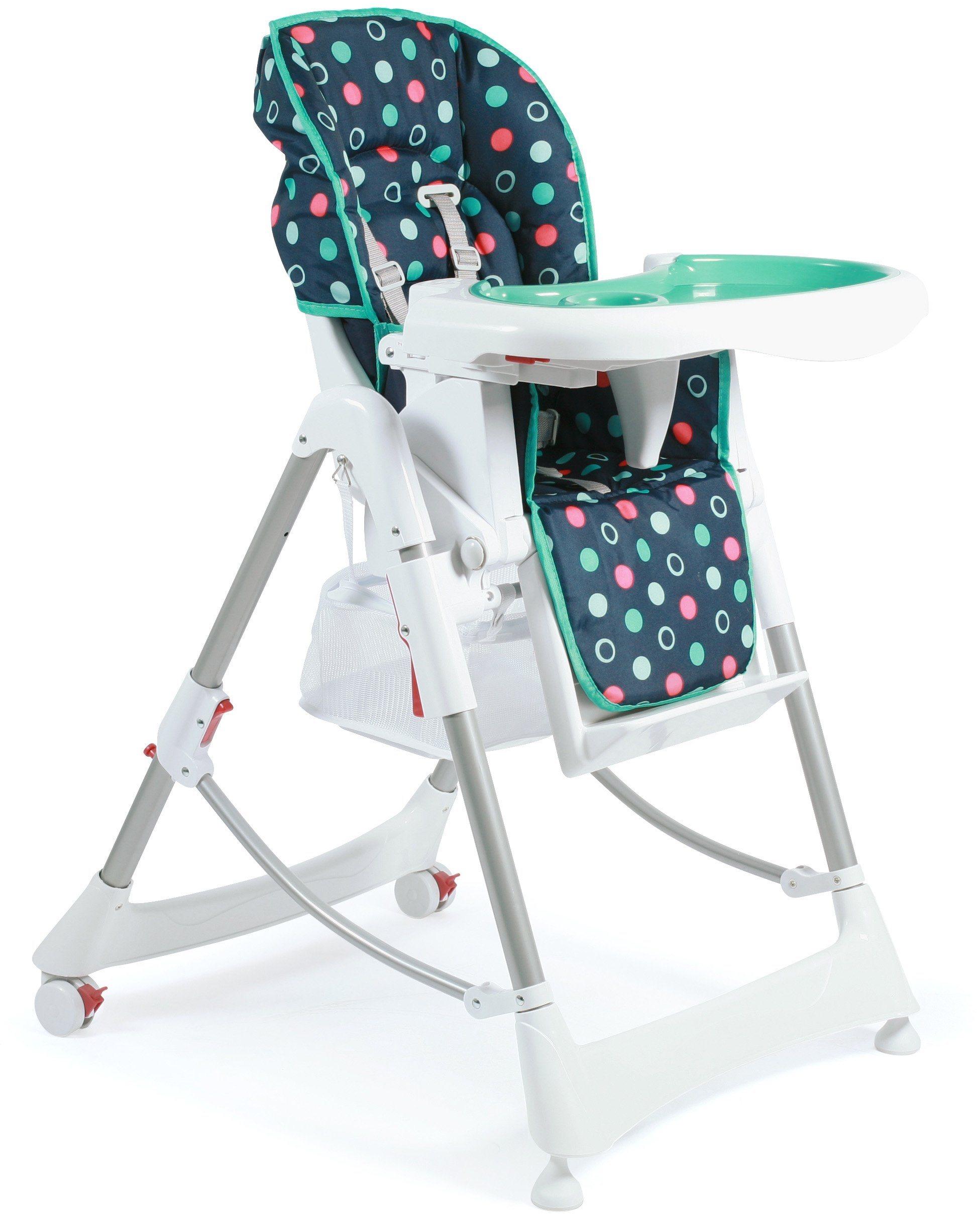 CHIC4BABY Hochstuhl mit verstellbarer Rückenlehne, »Enjoy menta«   Kinderzimmer > Kinderzimmerstühle > Hochstühle   Kunststoff   CHIC4BABY