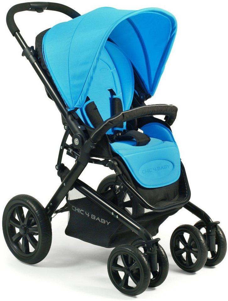 CHIC4BABY BABY Kinderwagen mit Doppelschwenkrädern, »Pronto« in blue