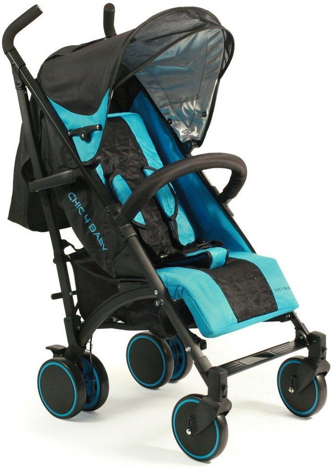 CHIC4BABY Buggy mit schwenkbaren Vorderrädern, »Luca light blue« in light blue