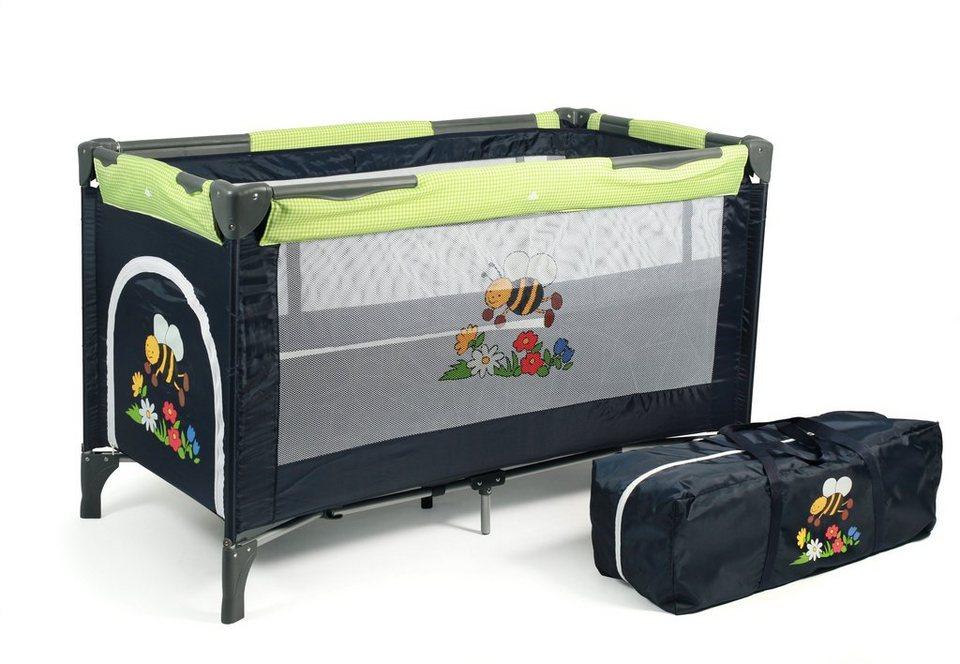 CHIC4BABY Reisebett mit Transporttasche, »Luxus bumblebee« in bumblebee