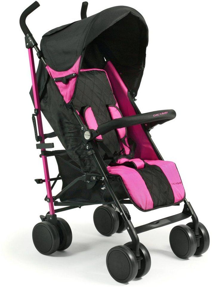 CHIC4BABY Buggy mit schwenkbaren Vorderrädern, »Lido pink« in pink