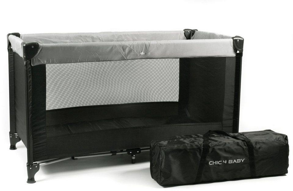 CHIC4BABY Reisebett mit Transport Tasche, »Basic schwarz« in schwarz