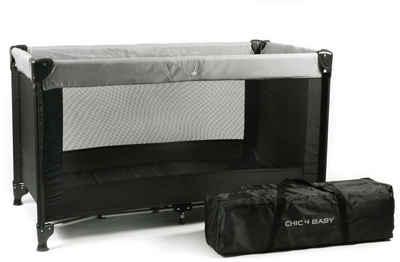 CHIC4BABY Baby-Reisebett »Basic schwarz«, mit Transporttasche