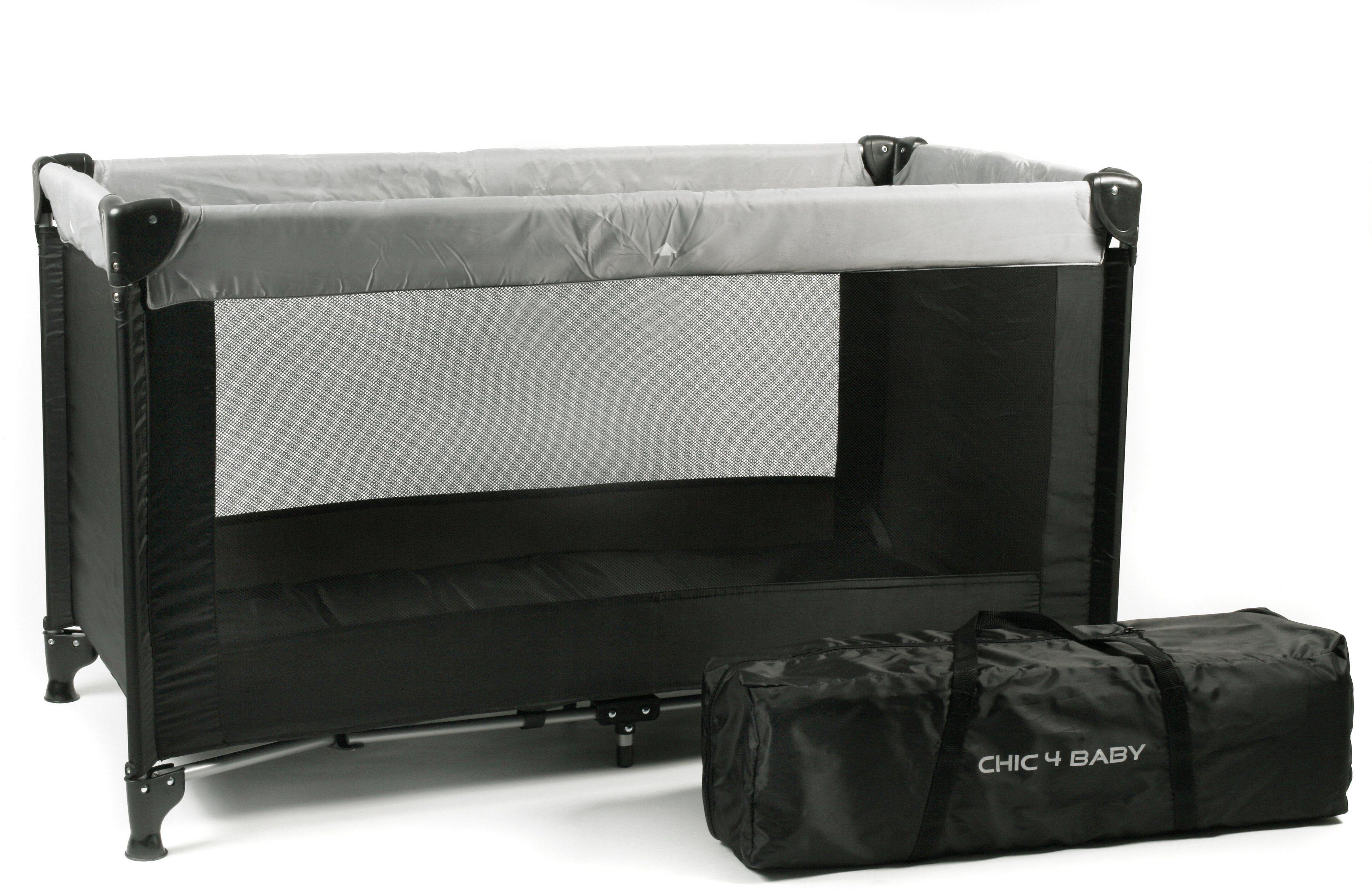 CHIC4BABY Reisebett mit Transport Tasche, »Basic schwarz«