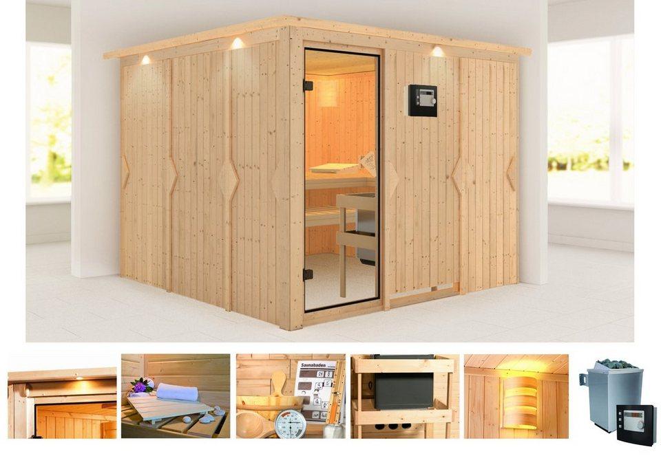 konifera sauna monique 231 231 198 cm 9 kw ofen mit ext steuerung online kaufen otto. Black Bedroom Furniture Sets. Home Design Ideas