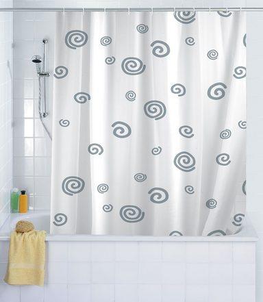 wenko duschvorhang schnecke 180 x 200 cm waschbar online kaufen otto. Black Bedroom Furniture Sets. Home Design Ideas
