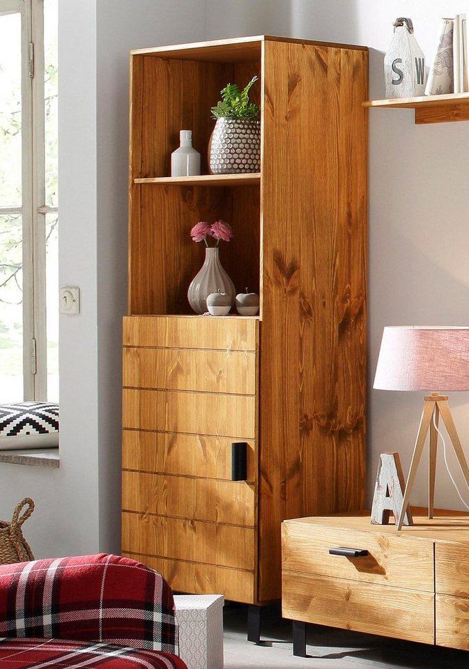Home affaire Regal »Brooklin«, Breite 60 cm in gelaugt/geölt
