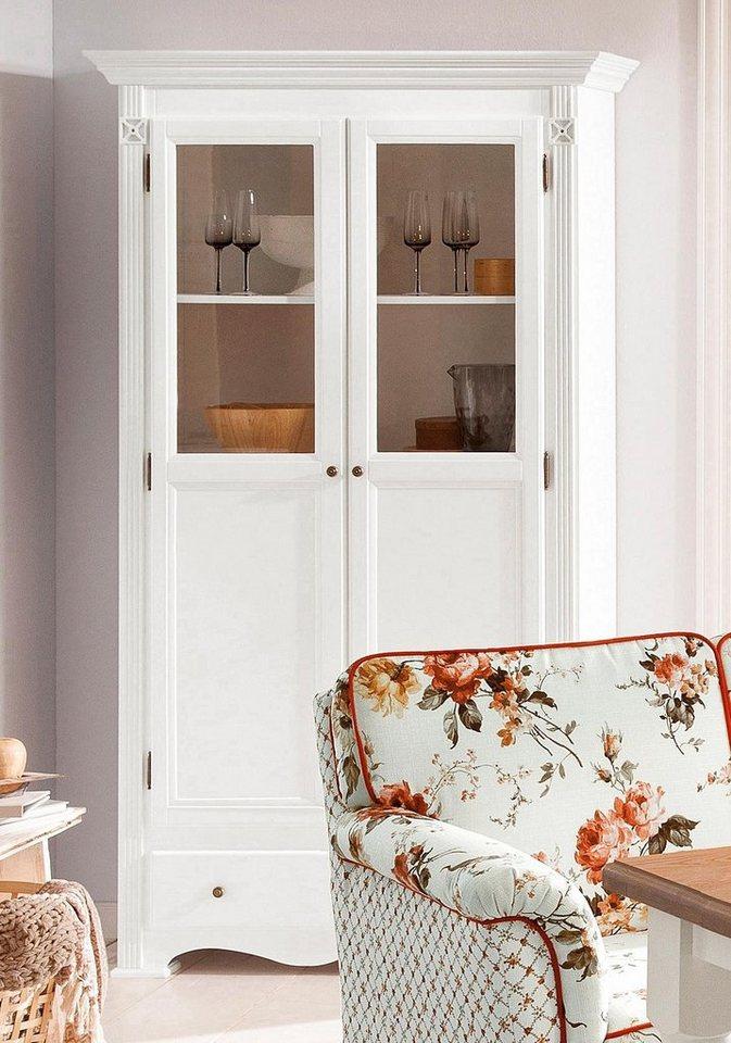 Home affaire Vitrine »Romantic«, 2trg., Höhe 200 cm in weiß