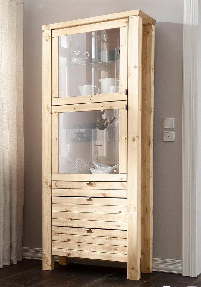 Premium collection by Home affaire Vitrine »Cortez«, Höhe 210 cm in gelaugt/geölt