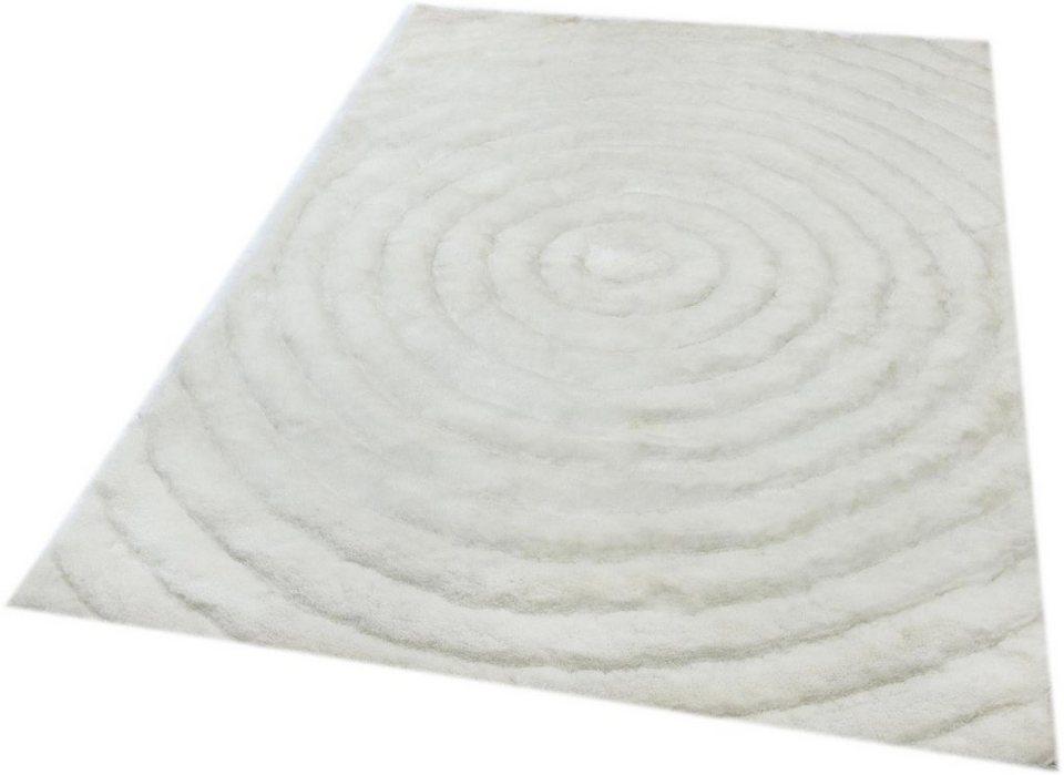 Hochflor-Teppich, Teppich Kontor Hamburg, »Cayenne«, Höhe 50 mm in weiß