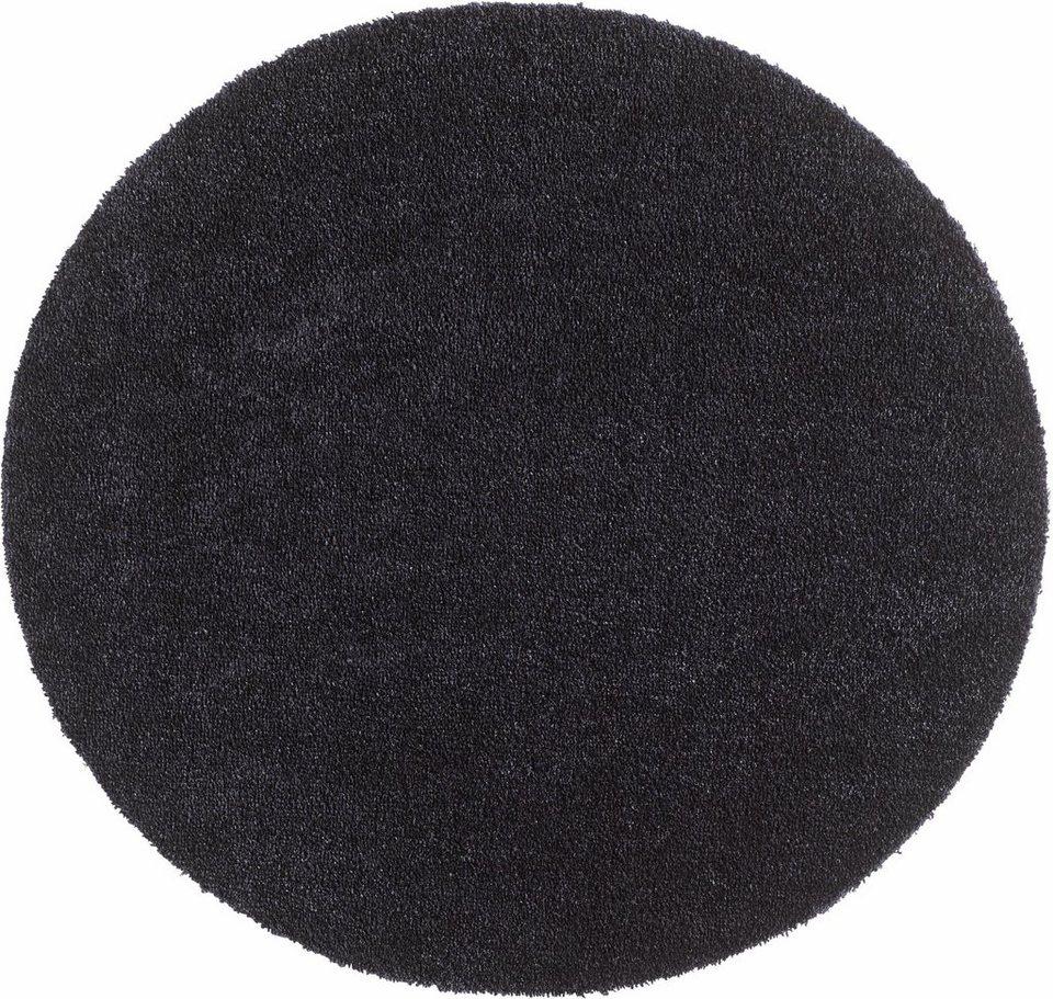 Teppich »Deko Soft«, Hanse Home, rund, Höhe 7 mm, saugfähig, waschbar in schwarz