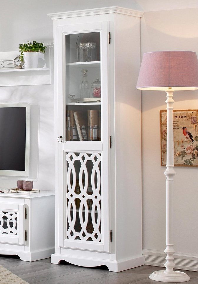 Home affaire Vitrine »Elegance«, 1trg., Höhe 187 cm in weiß