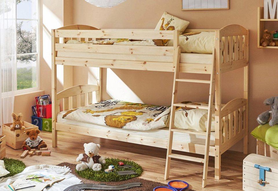 Etagenbett Tica : Ticaa einzel etagenbett kiefer »erni« kaufen otto