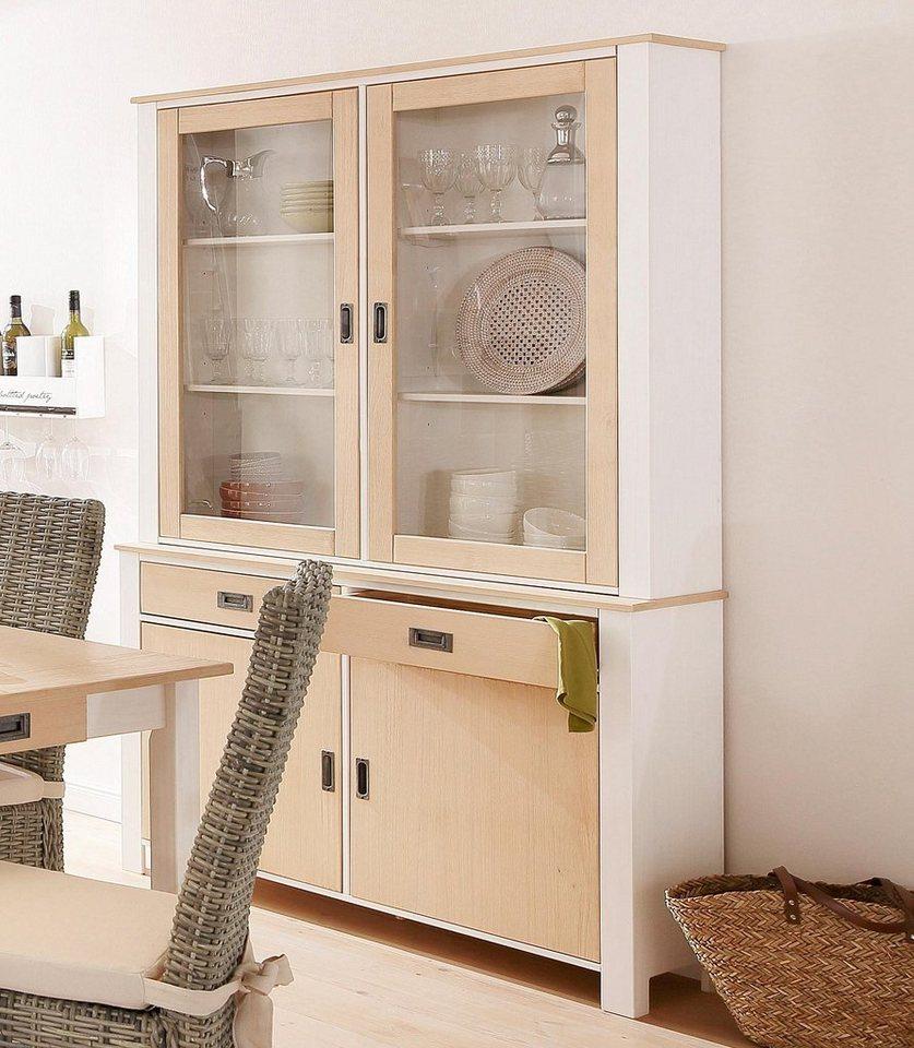 Home affaire Buffet »Madagaskar«, Breite 125 cm in Weiss/hellbraun