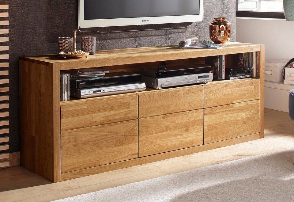 Home affaire Lowboard »Una«, Breite 157 cm in eiche/geölt