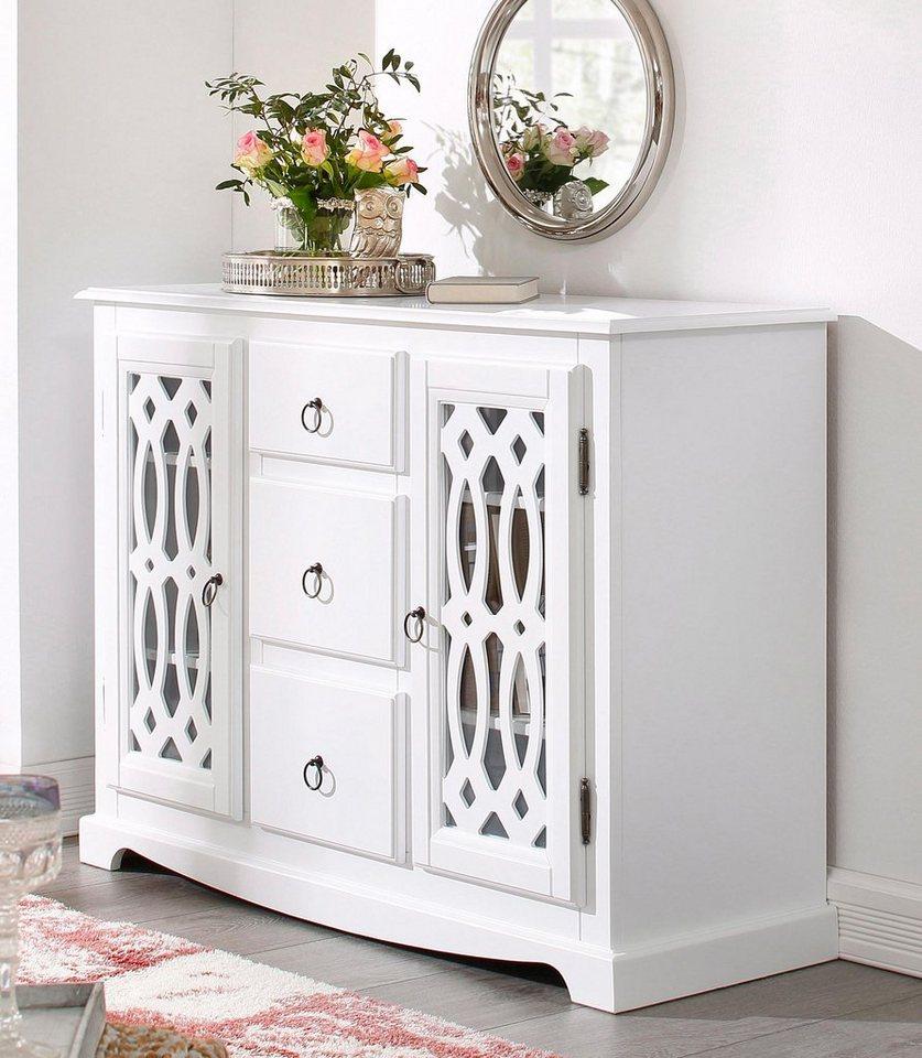 Home affaire Sideboard »Elegance«, Breite 118 cm in weiß