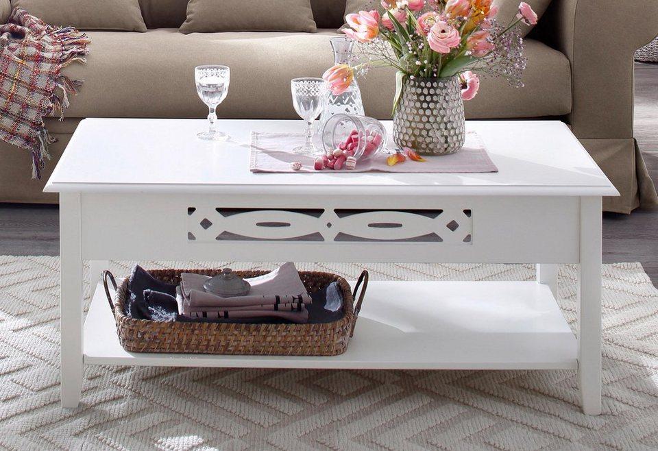 Home affaire Couchtisch »Elegance«, Breite 110 cm in weiß