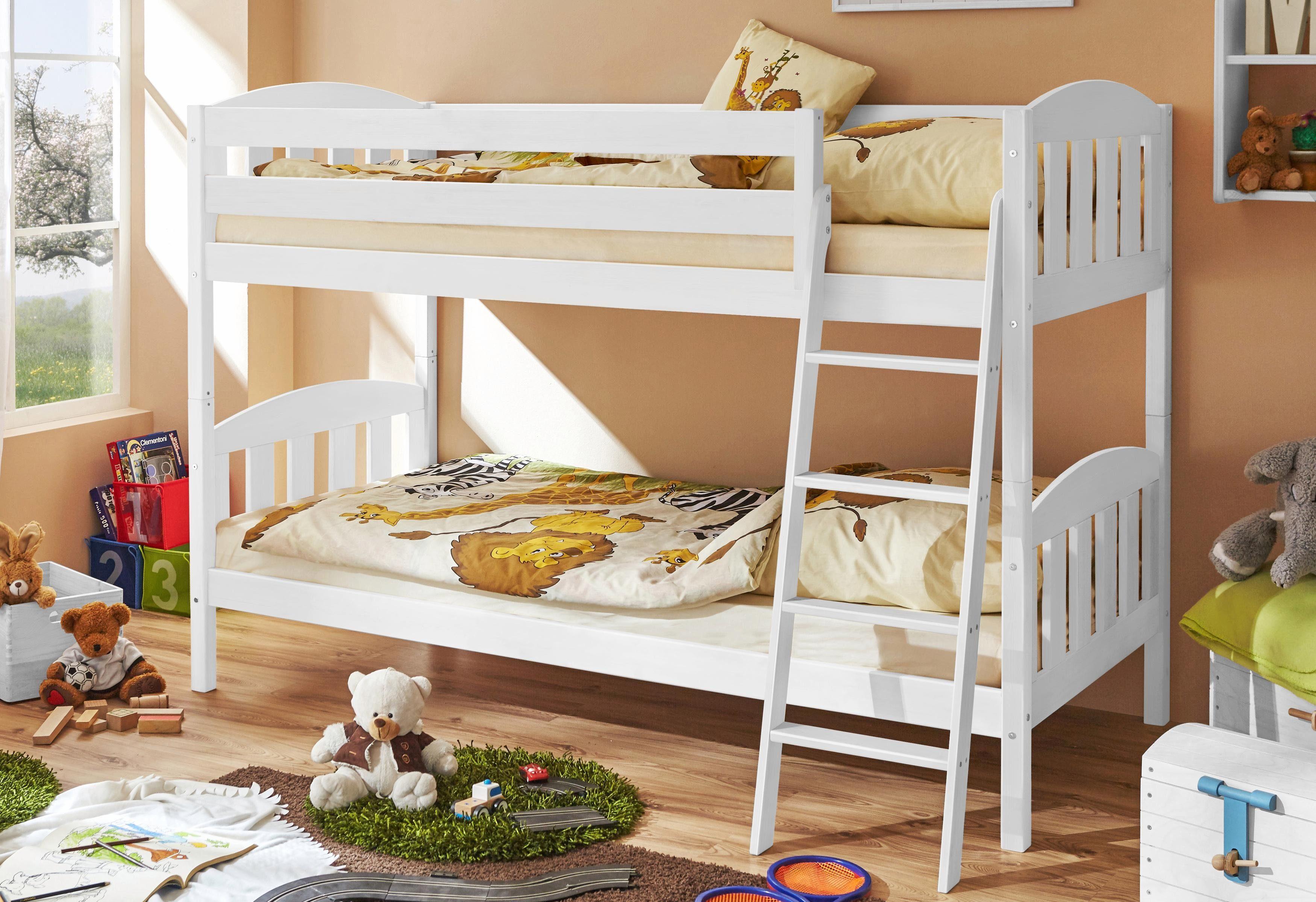 Ticaa Etagenbett Rene : Ticaa etagenbett lupo buche weiß amazon küche haushalt
