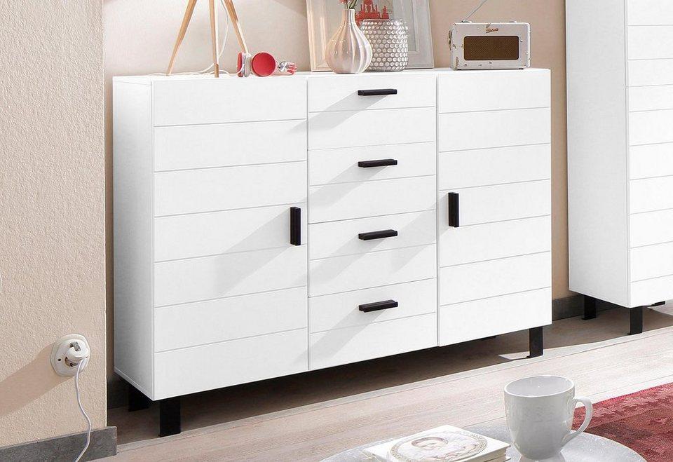 Home affaire Sideboard »Brooklin«, Breite 120 cm in weiß