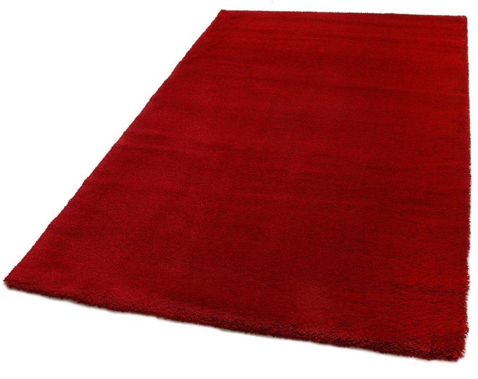 Hochflor-Teppich, Teppich Kontor Hamburg, »Living«, Höhe 30 mm in rot